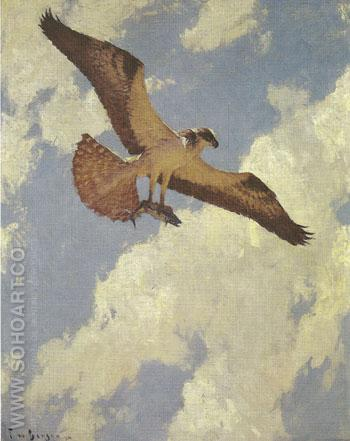 Osprey and Fish 1924 - Frank Weston Benson reproduction oil painting