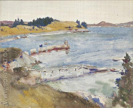 Our Cove 1922 - Frank Weston Benson reproduction oil painting