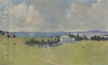Wooster Farm The House at North Haven 1912 - Frank Weston Benson reproduction oil painting