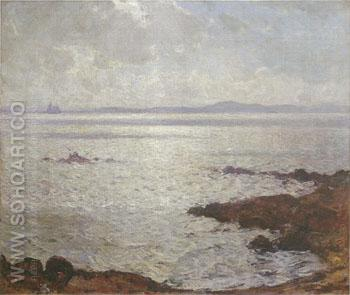 Shimmering sea 1908 - Frank Weston Benson reproduction oil painting