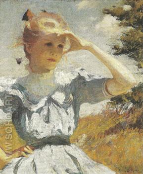 Eleanor 1901 - Frank Weston Benson reproduction oil painting