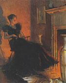 By Firelight 1880 - Frank Weston Benson