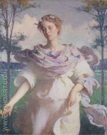 Summer 1890 - Frank Weston Benson reproduction oil painting