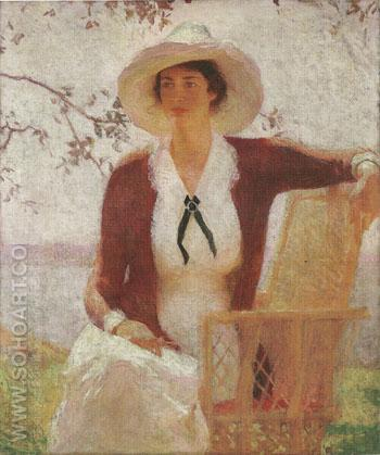 My Daughter Elisabeth 1914 - Frank Weston Benson reproduction oil painting