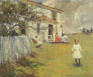 The Benson Family at Wooster Farm Nort Haven Maine 1901 - Frank Weston Benson reproduction oil painting