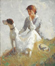 Girl with a Dog 1914 - Frank Weston Benson