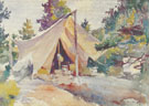 Henry's Tent The Tent 1921 - Frank Weston Benson