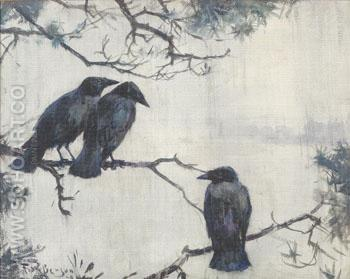 Crows in the Rain 1929 - Frank Weston Benson reproduction oil painting