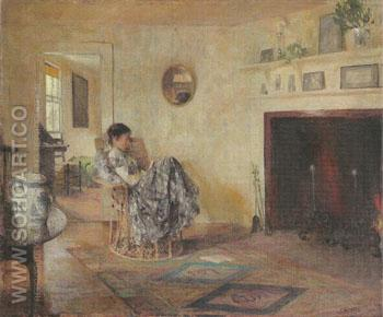Rainy Day 1906 - Frank Weston Benson reproduction oil painting