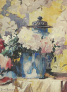 Peonies in Blue China 1923 - Frank Weston Benson reproduction oil painting