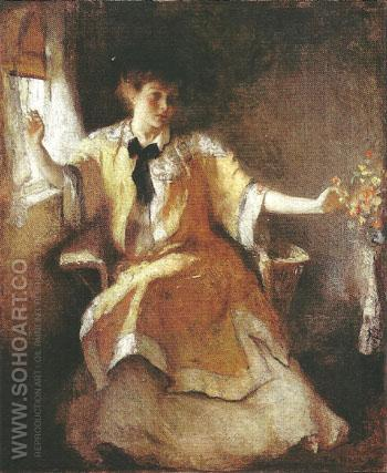 Young Girl by a Window 1911 - Frank Weston Benson reproduction oil painting