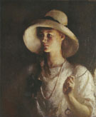 My Daughter 1912 - Frank Weston Benson reproduction oil painting