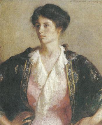 Portrait of Elisabeth c.a.1918 - Frank Weston Benson reproduction oil painting
