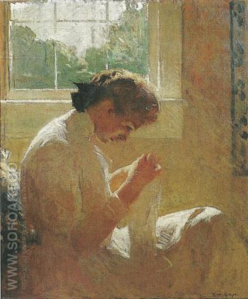 The Sunny Window 1919 - Frank Weston Benson reproduction oil painting