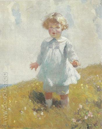 Boy in Blue 1919 - Frank Weston Benson reproduction oil painting