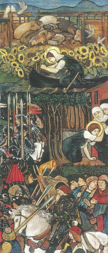 Scenes From the Life of Saint Frideswide 1859 - Sir Edward Coley Burne-jones reproduction oil painting