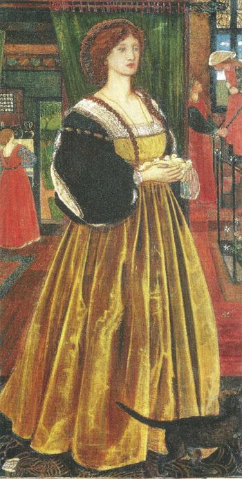 Clara von Bork 1860 - Sir Edward Coley Burne-jones reproduction oil painting
