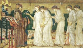 Saint George and the Dragon Princess Sabra Drawing the Lot 1865-66 - Sir Edward Coley Burne-jones reproduction oil painting
