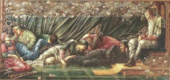 The Briar Rose The Council Chamber 1872-92 - Sir Edward Coley Burne-jones reproduction oil painting