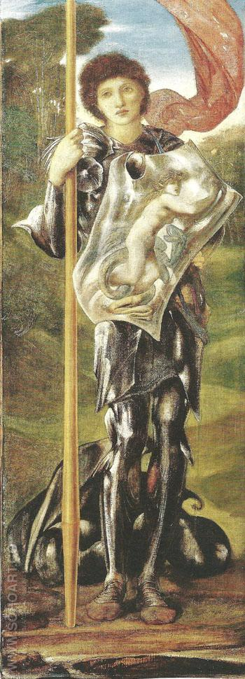 Saint George 1873-77 - Sir Edward Coley Burne-jones reproduction oil painting