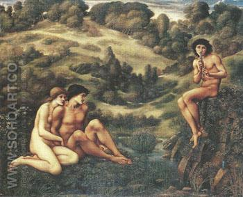 The Garden of Pan 1876-87 - Sir Edward Coley Burne-jones reproduction oil painting
