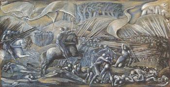 Flodden Field 1882 - Sir Edward Coley Burne-jones reproduction oil painting
