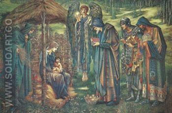 The Star of-Bethlehem 1887-90 - Sir Edward Coley Burne-jones reproduction oil painting