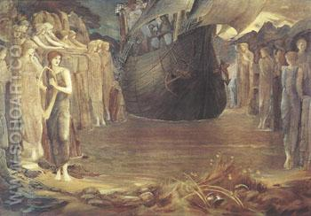 The Sirens 1891-98 - Sir Edward Coley Burne-jones reproduction oil painting
