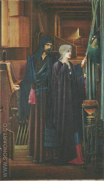 The Wizard 1891-98 - Sir Edward Coley Burne-jones reproduction oil painting