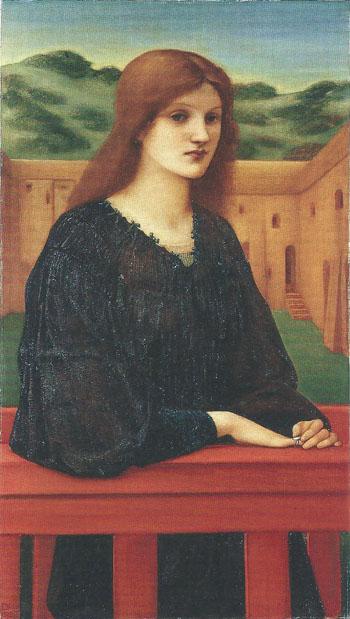 Vesertina Quies 1893 - Sir Edward Coley Burne-jones reproduction oil painting