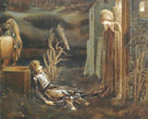 The Drean of Launcelot at the Chapel of the San Graal 1985-96 - Sir Edward Coley Burne-jones