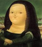 Mona Lisa small - Fernando Botero reproduction oil painting
