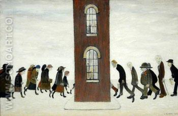 The Meeting Point - L-S-Lowry reproduction oil painting