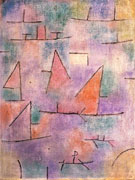 Harbour with Sailing Ships 1937 - Paul Klee reproduction oil painting