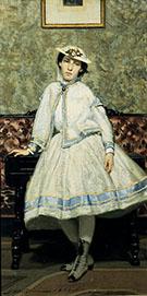 Portrait of Alaide Banti in White Dress 1866 - Giovanni Boldini