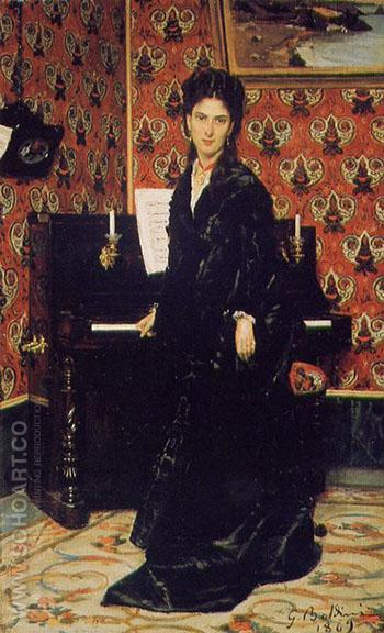 Portrait of Mary Donegan 1869 - Giovanni Boldini reproduction oil painting