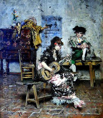 A Guitar Player 1873 - Giovanni Boldini reproduction oil painting