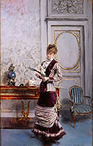 A Lady Admiiring a Fan 1878 - Giovanni Boldini reproduction oil painting