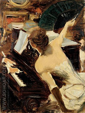 The Mondona Singer 1884 - Giovanni Boldini reproduction oil painting