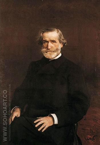 Portrait of Guiseppe Verdi 1813-1901 1886 - Giovanni Boldini reproduction oil painting