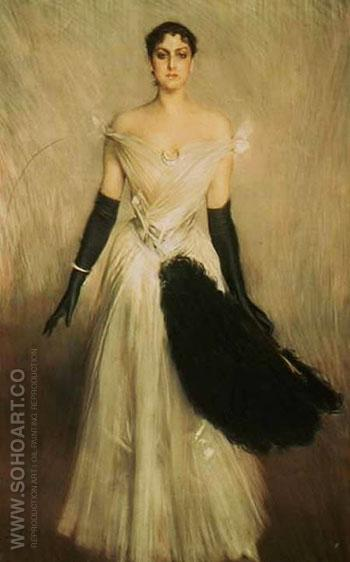 Portrait of a Lady 1889 - Giovanni Boldini reproduction oil painting