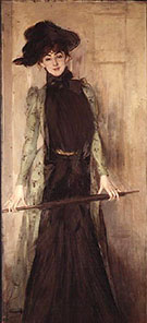 Princesse de Caraman Chimay later Madame Jourdan 1889 - Giovanni Boldini reproduction oil painting