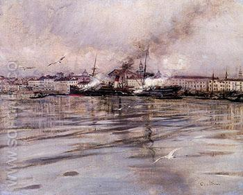 View of Venice 1895 - Giovanni Boldini reproduction oil painting