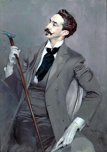 Count Robert de Montesquiou 1897 II - Giovanni Boldini reproduction oil painting