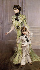 Madame Georges Hugo and her Son Jean 1898 - Giovanni Boldini