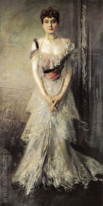 Portrait of Maria Eulalia of Spain 1898 - Giovanni Boldini reproduction oil painting