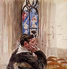 Portrait of a Man in Church 1900 - Giovanni Boldini