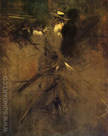 In the Promenade 1905 - Giovanni Boldini reproduction oil painting