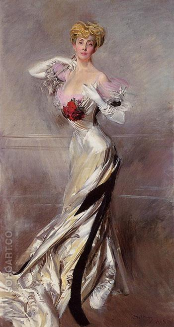 Portrait of the Countess Zichy 1905 - Giovanni Boldini reproduction oil painting