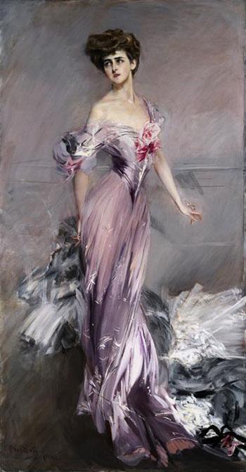 Portrait of Mrs Howard Johnston 1906 - Giovanni Boldini reproduction oil painting